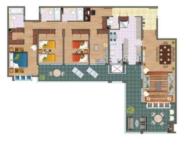uf 8.540 departamento en venta en peñalolén 4 dormitorios 4 baños propiedades de hyc asociados